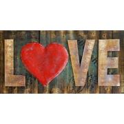 HDC International 3D Love Red Heart Wall Decor