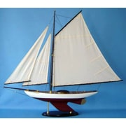 Handcrafted Nautical Decor Bermuda Sloop Model Ship