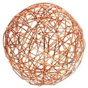 Home Essentials and Beyond Copper Crazy Weave Orb Sculpture; 7'' H x 7'' W x 7'' D