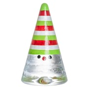 Kosta Boda Noel Sculpture; Red/White/Lime