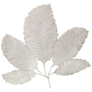 EC World Imports Urban Metallic Decorative Stainless Steel Leaf Art Wall Decor
