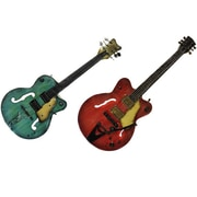 EC World Imports Strings Rock The World Artisan 2 Piece Metal Guitar Wall Art Decor