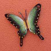 Novica Alejandro de Esesarte Collectible Green Butterfly Steel Wall Decor