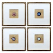 Empire Art Direct 4 Piece Indigo, Malachite, Azure, Indigo Geodes Wall D cor Set