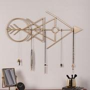 Kate and Laurel Benta Modern Arrow Metal Wall D cor; Gold