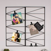 Kate and Laurel Whitt Wire and Clips Metal Geometric Wall D cor; Black