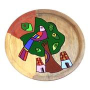 Novica Quetzal Unique Hand Painted Wood Plate Bird Wall D cor
