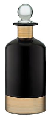 Prinz Banded Glass Boutique Bottle; Black/Gold WYF078280026106