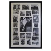 Studio 500 Modern Contemporary Collage Picture Frame; Matte Black
