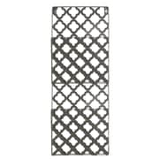 Urban Trends Metal Rectangle Wall Mail Organizer; Gray