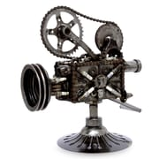 Novica Collectible Recycled Metal Movie Theater Sculpture
