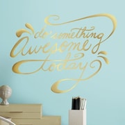 Room Mates Deco Do Something Awesome Quote Peel and Stick Wall Decal