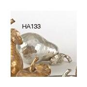 Saro Resin Pear Sculpture; Silver