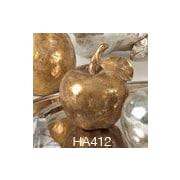 Saro Resin Apple Sculpture; Gold
