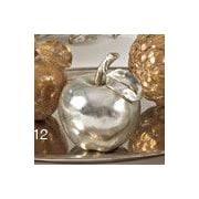 Saro Resin Apple Sculpture; Silver