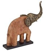 Modern Day Accents Trompa Wood Elephant Figurine