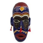 Novica Ghanaian KingS Men Wood Mask Wall D cor