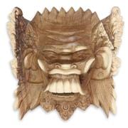 Novica Made Mulyani Balinese Acacia Wood Celuluk Mask Wal Decor