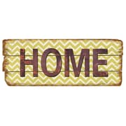 M Home Decor Rustic Home Chevron Wood Sign Wall Decor by