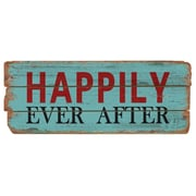 M Home Decor Rustic Happily Ever After Wood Sign Wall Decor