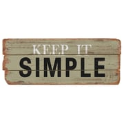 M Home Decor Rustic Keep It Simple Wood Sign Wall Decor