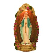 Hi-Line Gift Ltd. Mary in Grotto Lamp