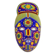 Novica Life Fortune and Success Beadwork Mask Wall D cor