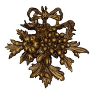 Hickory Manor House Fruit Carving I Wall D cor; Antique Gold