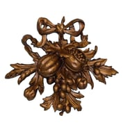 Hickory Manor House Fruit Carving II Wall D cor; Bronze