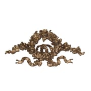 Hickory Manor House Ornate Floral Ribbon Wreath Wall D cor; Antique Gold