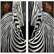 Omax Decor 2 Piece Zebra Overlooking Wall D cor Set