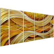 Omax Decor 6 Piece Golden Interwoven Spirals Wall D cor Set