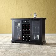 Darby Home Co Pottstown Bar Cabinet w/ Wine Storage; Black