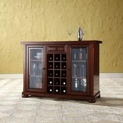Darby Home Co Pottstown Bar Cabinet w/ Wine Storage; Vintage Mahogany