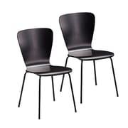 Holly & Martin Cadby Side Chair (Set of 2); Satin Black