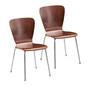 Holly & Martin Cadby Side Chair (Set of 2); Walnut