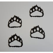 Say It All On The Wall 4 Piece Bear Paw Prints Metal Wall D cor Set