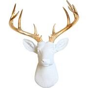 White Faux Taxidermy The XL Deer Head Wall Decor