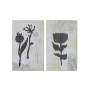Creative Co-Op Flower Wall Decor (Set of 2)