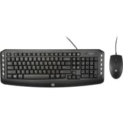 HP® C2600 Optical USB 2.0 Wired Keyboard and Mouse Combo, Black (J2X04AA)
