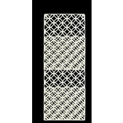 Urban Trends Metal Rectangle Wall Mail Organizer; White