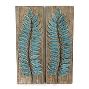 Wilco Home 2 Piece Timberland Embossed Stamped Metal Feather Raised Wall D cor Set