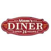 Wilco Home Farm to Table Metal Mom's Diner ''Open 24 Hours'' Wall D cor
