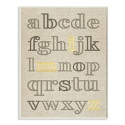 Stupell Industries Alphabet Neutrals w/ Gold Typography Wall Plaque