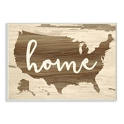 Stupell Industries Home Distressed Wood US Map Wall Plaque