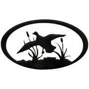 7055 Inc Duck Oval Wall D cor; Hammered Black