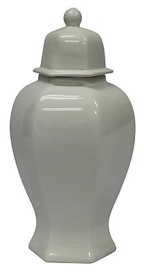 Sagebrook Home Ceramic Decorative Urn; 19'' H x 8.5'' W x 8.5'' D WYF078280028404