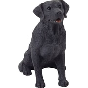 Sandicast Mid Size Sculptures Sitting Labrador Retriever Figurine; Black
