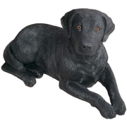 Sandicast Original Size Sculptures Labrador Retriever Figurine; Black