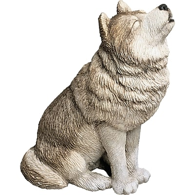 Sandicast Mid Size Howling Wolf Sculpture WYF078280026932